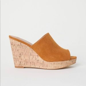 NWT Open Toe Mules by H&M